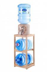 Подставка деревянная для воды с двумя нишами