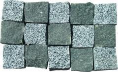 Stone blocks granite chipped filed by the Gabbro