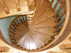 Carved spiral staircases