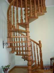 Ladders are garret wooden carved