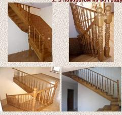 Лестницы декоративные из дерева резные
