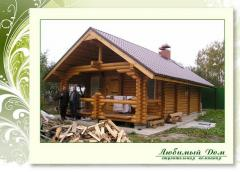 Guest houses from the rounded log