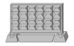 Плита забора (2,5х2,5х0,6) ПО-2