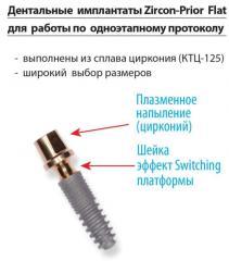 Дентальний имплантат для работы по одноетапному