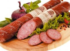 Sausage smoked and boiled Cervelat vk Sunday of