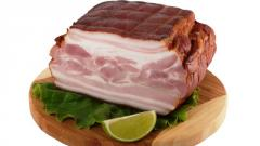 Bacon delicious of pork to/in premium