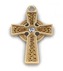 The Celtic cross with celt005pd diamond