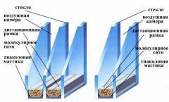 Double-glazed windows for metalplastic windows.