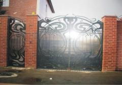 Кованые калитки, ворота кованые Киев Одесса