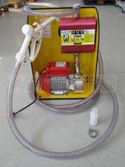 Pump with flow meter and valve for dispensing food