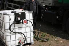 Fuel station pumps hoses counters
