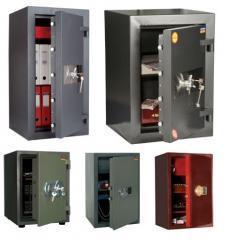 Safes: furniture, office, built in, vzlomostoyky,