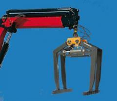 Binding clip for cranes of manipulators