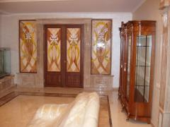 Doors are stained glass