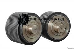 Rollers assembled on the press granulator OGM-1,5
