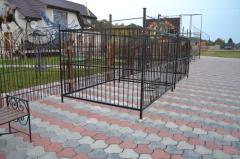 Кованые вольеры для собак Украина
