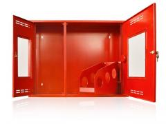 Case firefighter hinged double horizontal