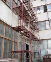 Bricklayer's scaffold. Rack portico,