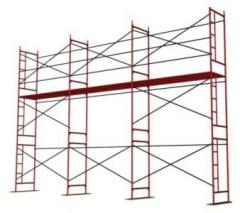 Bricklayer's scaffold. Frame, rack portico,