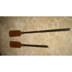 Oars for the rubber boat telescopic