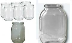 Glass jars from 0,5 liters