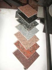 Tile facing granite