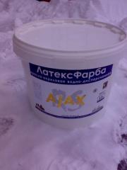 Краска латексная акриловая AJAX 10л(14кг)