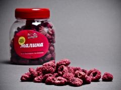 Raspberry dried berries, Malines dried from the