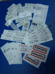 Production of labels Kiev