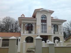 Front thermopanels, warming of a facade,