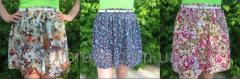 Мини юбка солнце с цветочным принтом Код: 1211
