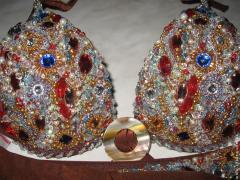 Beadwork, stones, Swarovski's crystals,