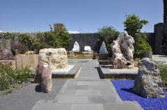 Камень в ландшафтном дизайна - наши работы