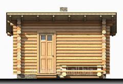 Недорогая баня со сруба  - 13 м2