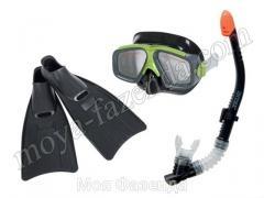 Teenage swimming set - a mask a tube flippers