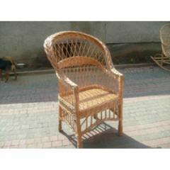 Wicker chair from a rod Simple