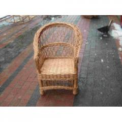 Wicker children's chair from a rod
