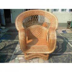 Wicker royal chair from a rod