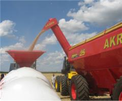 Бункеры для зерна, техника для затаривания зерна в