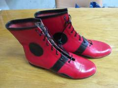 Boots circus of genuine leather