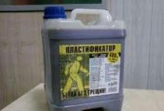The plasticizer for concrete and solutions