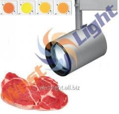 Illumination of meat products, track LED lamp 25W