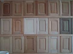 Wooden facades kitchen. Furniture facades: MDF,