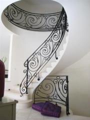 Кованые лестницы,  поручни
