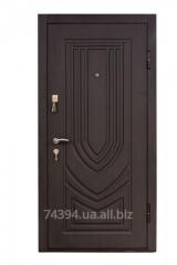 Door entrance metal with MDF an overlay of TM