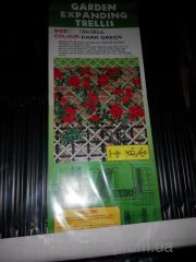 Решетка садовая 1х3м белая,зеленая опора для