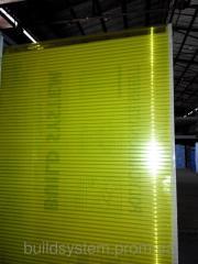 Поликарбонат сотовый 6мм желтый