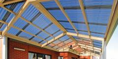 Roof transparent of polycarbonate