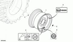 AXE10350 wheel disk, JD670STS combine
