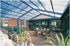 Roofing overlapping transparent of polycarbonate